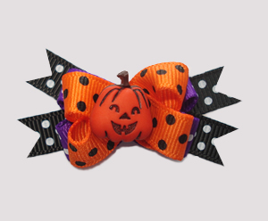 #BTQM255 - Mini Boutique Bow Jolly Jack O'Lantern