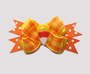 #BTQM284 - Mini Boutique Bow Sweet Candy Corn