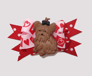 #BTQM430 - Mini Boutique Bow Yorkie Love, You're In My Heart