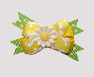 #BTQM520 - Mini Boutique Dog Bow Sweet Sunshine Daisy