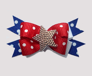 #BTQM580 - Mini Boutique Bow Patriotic Star