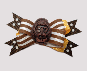 #BTQM740 - Mini Boutique Bow Groovy Gorilla