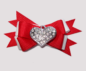 #BTQM818 - Mini Boutique Dog Bow My Special Valentine, Bling