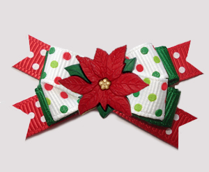 #BTQM845 - Mini Boutique Bow Candy Cane Sprinkle, Poinsettia
