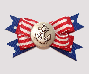 #BTQM866 - Mini Boutique Bow Classic Nautical with Anchor
