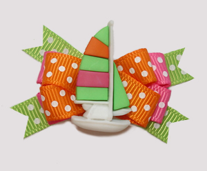#BTQM867 - Mini Boutique Bow Spectacular Sailboat