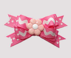 #BTQM872 - Mini Boutique Bow Pop of Pink, ZigZag/Dots, Daisy