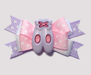 #BTQM875 - Mini Boutique Bow Ballet Slippers, Pink/Lavender