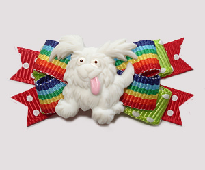 #BTQM893 - Mini Boutique Bow Happy To See You, Little Pup