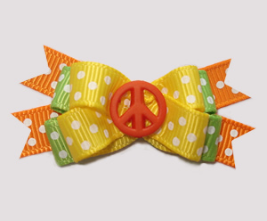#BTQM945 - Mini Boutique Bow Bright & Happy Peace, Orange
