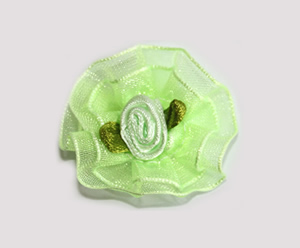 #BCLPBLM14 - Dog Hair Clip - Organza Bloom, Fresh Mint Green