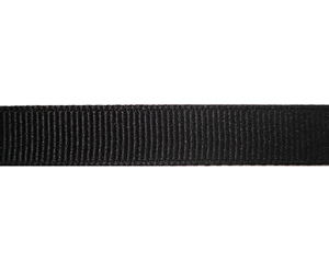 "#DIY38-0440- 12"" of 3/8"" Ribbon - Classic Black Grosgrain"