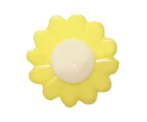 #DIYEM-4670 - Novelty Button Flower, Yellow