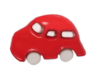 #DIYEM-4720 - Novelty Button Cool Car - Red
