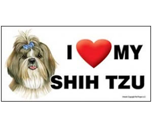 Car Magnet - Shih Tzu with Bow