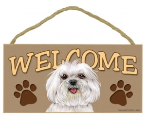 Wood Welcome Sign - Maltese