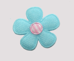 #FP0086 - Flower Power - Sky Blue/Pink