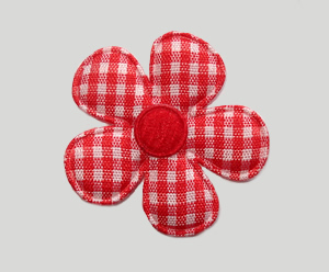 #FP0090 - Flower Power - Pretty Gingham, Classic Red