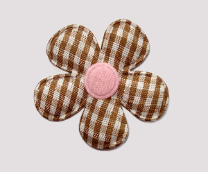 #FP1100 - Flower Power - Pretty Gingham, Chocolate/Pink