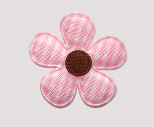 #FP1300 - Flower Power - Pretty Gingham, Pink/Chocolate Brown