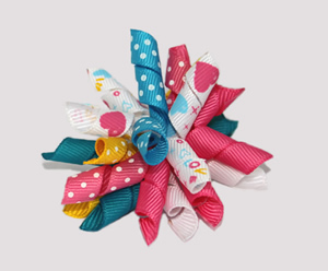 #KRK341 - Korker Dog Bow - XOXO Playful Hearts