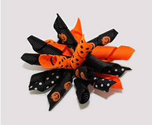 #KRK430 - Korker Dog Bow - Pumpkin Patch