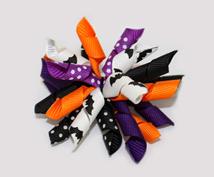 #KRK490 - Korker Dog Bow - Batty For Halloween