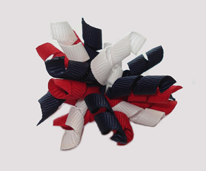 #KRKM290 - Mini Korker Dog Bow - Dark Navy/White/Red