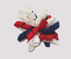 #KRKM380 - Mini Korker Dog Bow - Pretty Patriotic