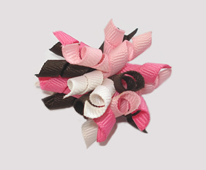 #KRKM400 - Mini Korker Dog Bow - Strawberry & Chocolate