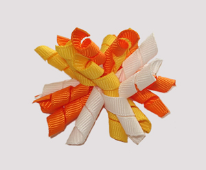 #KRKM424 - Mini Korker Dog Bow - Candy Corn Cutie