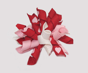 #KRKM430 - Mini Korker Dog Bow - Be Mine, Sweetheart