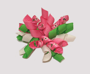 #KRKM450 - Mini Korker Dog Bow - Flower Power