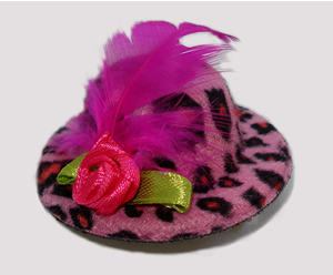 #LTT01 - Tiny Topper, Leopard Print - Hot Pink