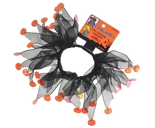 #PC8501 - Halloween Party Collar, Black with Orange Pumpkins