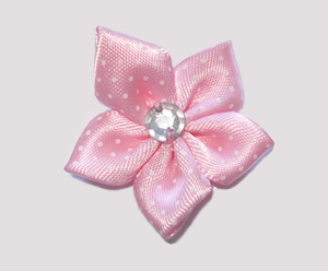 #PP170 - Pretty Petals Barrette - Satin Flower, Baby Pink