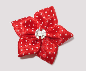 #PP200 - Pretty Petals Barrette - Satin Flower, Red