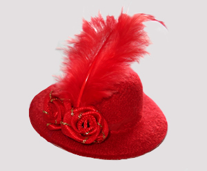 #RTT03 - Tiny Topper Hat, Candy Red