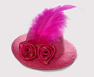 #RTT07 - Tiny Topper Hat - Dramatic Hot Pink