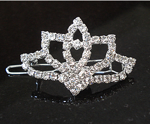 #S0525 - Dog Rhinestone Hair Barrette - Gorgeous Sparkling Tiara