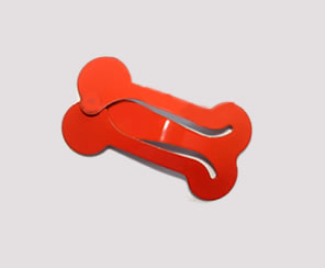 #SC0371 - Dog Snap Clip - Mini Bone, Orange