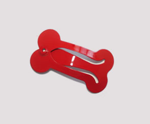 #SC0380 - Dog Snap Clip - Mini Bone, Classic Red