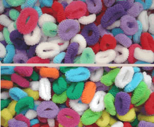 #SF0038 - BARGAIN Scrunchies - MINI - 2 Pkgs Assorted 70 pc