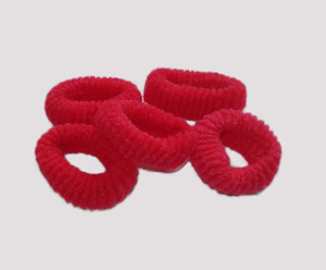 #SF0047 - Scrunchie Fun - Vermilion Red Pkg of 5