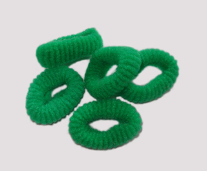 #SF0049 - Scrunchie Fun - Forest Green Pkg of 5