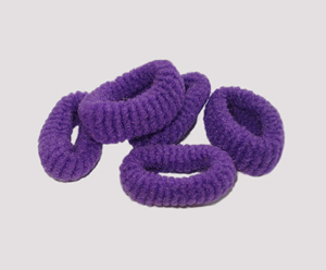 #SF0052 - Scrunchie Fun - Deep Purple Pkg of 5