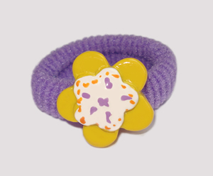 #SF0230 - Scrunchie Fun - Purple Band, Yellow Flower