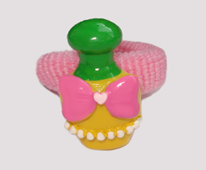 #SF0410 - Scrunchie Fun - Pink Band, Yellow Perfume Bottle