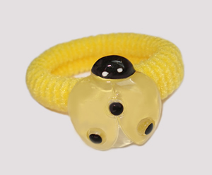 #SF0440 - Scrunchie Fun - Yellow Band, Yellow Ladybug