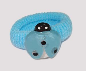 #SF0450 - Scrunchie Fun - Blue Band, Blue Ladybug